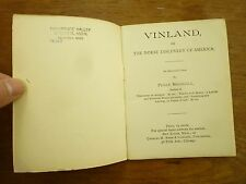 c1902 VINLAND Poem NORSE DISCOVERY of AMERICA Perry Marshall NEW SALEM Mass.