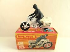 MATCHBOX SUPERFAST 33c Police Motorcycle-MAG WHEELS-Nuovo di zecca/in Scatola
