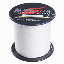 100M 100LB Spectra Dyneema Multifilament PE Braided Sea Fishing Line Wire White