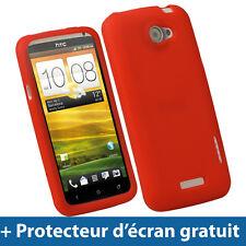 Rouge Étui Housse Silicone Coque Case Cover pour HTC One X + Plus S720e Android