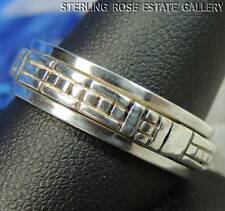 MEN'S Spinner STERLING SILVER 0.925 Estate Band RING size 11.5, THUMB RING