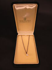 Vintage Mikimoto Pearl Necklace with Silver Chain
