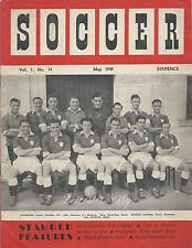 """Soccer"" May 1949 Football Magazine - Feat. Leicester City, Bill Wright"