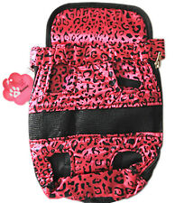 Small Pet Dog Puppy Cat Backpack Carrier Pouch w/ Chest Strap for Outdoor (Pink)
