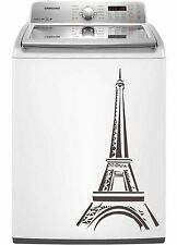 Eiffel Tower Paris Sticker Decal Dishwasher Refrigerator Washing Machine Stove