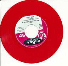 "PETULA CLARK 45 TOURS 7"" FRANCE VINYLE ROUGE RED VINYL NON ET NON"