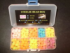 8mm 10 Color Speckled UV Trout Bead Assortment Box FREE BEADS INCLUDED $9.99!