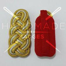 WWII GERMAN GOLD SILVER BRAID GENERAL SHOULDER BOARDS ON RED