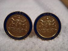 Lot-w vintage MGA Missouri golf? 1969 contestant mens cufflinks Year Tom Watson?