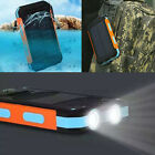 Waterproof Solar Power Bank300000mAh Portable External Battery Charger For Phone