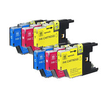 6 Pack Compatible Brother LC-71 LC-75 Color Ink Cartridges for inkjet printers