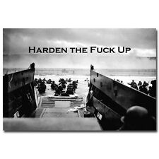 Harden - Motivational Inspirational Quote Military Silk Poster 24x36 inch