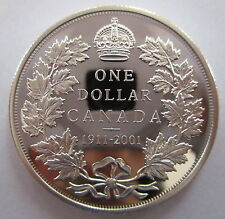 2001 CANADA 1911-2001 COMMEMORATIVE PROOF SILVER DOLLAR COIN
