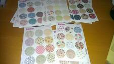60 Round Floral Mix Stickers - Kawaii Scrapbooking Filofax Cute Deco