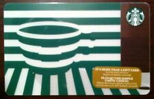 NEW STARBUCKS 2016 green cup HOLIDAY GIFT CARD RECHARGEABLE BILINGUAL !