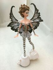 Espresso Coffee Faery. Amy Brown Tea Cup Fairy Art Collection Statue Figurine