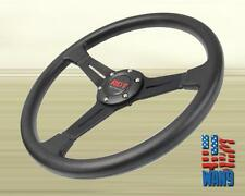 Universal 350MM JDM 6 Hole Light Deep Black Drift Racing Cone Steering Wheel