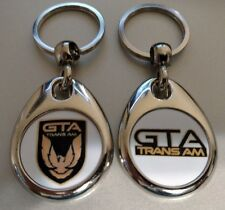 PONTIAC TRANS AM GTA KEYCHAINS 2 PACK CLASSIC MUSCLE CAR DOUBLE SIDED LOGO FOB