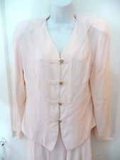 Michael Blair Womens Business Suit Blazer Pleated Skirt Size 12 Pink Rayon