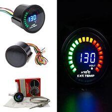 """Camión de carreras 52mm 2"""" DIGITAL ANALÓGICO LED indicador Medidor de gases de escape con sensor de temperatura"""
