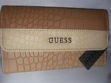 NEW GUESS LADIES WALLET ALESSANDRA SLG CLUTCH  TAUPE MULTI COLOR