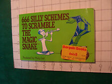 UNREAD Rubik Book: 666 silly schemes Magic Snake 1983 first printing 96pgs