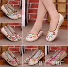 Womens Flats Loafers Moccasin Casual Shoes Embroidery Floral Folk Ballet Shoes