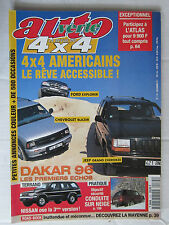 AUTO VERTE  4X4 N° 175 /FORD EXPLORER/CHEVROLET BLAZER/JEEP GD CHEROKEE/DAKAR 96