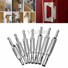 7PCS Hinge Drill Bit Set Self Centering Woodworking Hole Saw Cutter Puncher Tool
