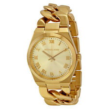Michael Kors Channing Champagne Dial Gold-tone Ladies Watch MK3393