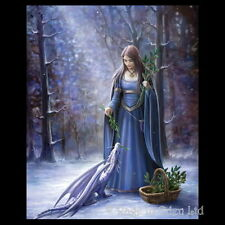 *SOLSTICE GATHERING* Anne Stokes Fantasy Angel Art Blank Christmas Card (AN41)