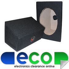 6x9 Car Speaker Box MDF Enclosure in BLACK Carpet with Terminals (Sold as Pairs)