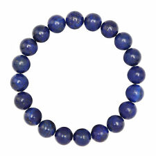 Nice Smooth Round 10mm Lapis Lazuli Elastic Cord Bracelet 7.5'' Long  Daily Wear