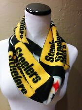 NEW!! NEW!! Pittsburgh Steelers Fleece Infinity scarf. HOT!!  Handcrafted