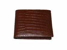 FOSSIL MEN'S FRANCIS BIFOLD COGNAG BROWN CROC EMBOSSED LEATHER WALLET ML3500222
