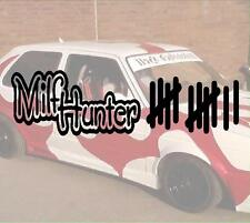 Milfhunter Strichliste Milf Turbo Hater Aufkleber Sticker JDM Hater Fun OEM