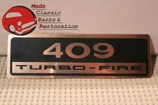 62-65 Chevy 409 Turbo-Fire Valve Cover Decals Gold and Black
