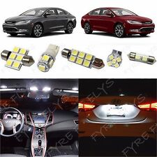 7x White LED lights interior package kit for 2015 and Up Chrysler 200 RT2W