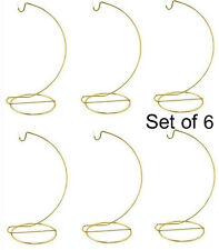 7 Inch Tall Gold Ornament Display Stand Hanger Holder #17150, Pack of 6 Stands