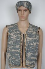 Hybrid Cooling Vest & Cooling Military Beanie Mist-N-Go Iraq Pack ACU Size  M