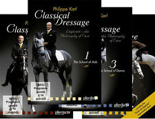 Classical Dressage by Philippe Karl - 4 Volume DVD Set  - Brand New Sealed