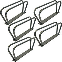 5 BICYCLE CYCLE BIKE STORAGE UPRIGHT WALL RACK HOOK NEW - WALL MOUNTED FOR LOCK