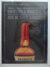 2002 Print Ad Maker's Mark Bourbon Whiskey ~ Poker Chips Ace in Hand