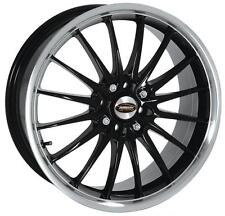 "17 ""TEAM DYNAMICS Jet NERO LUCIDO POLISHED LIP RUOTE IN LEGA solo"