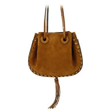 Chloe Inez Suede Shoulder Bag - Caramel