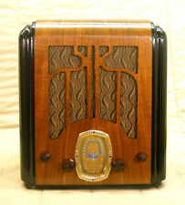 Old Antique Wood Crosley Vintage Tube Radio - Restored & Working Tombstone