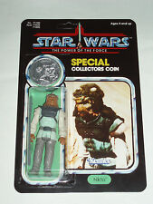 Nikto Vintage Star Wars Figure POTF 92 Back Custom MOC with Warok Coin