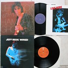 Jeff Beck with Jan Hammer Group – Live LP & Jeff Beck Wired LP Epic EPC 86012