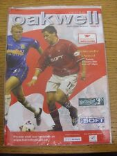 09/10/2001 Barnsley v Newcastle United [Football League Cup] . Footy Progs/Bobfr