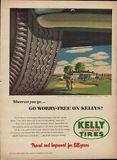 Vintage 1952 Kelly Springfield Tires golf course country club print ad